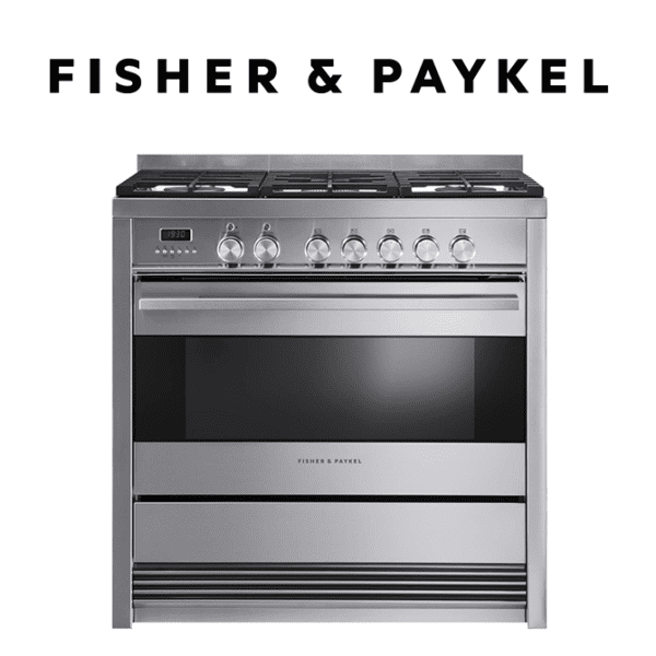 Fisher-Paykel OR90SDBGFPX1 Freestanding Cooker, 90cm, Dual Fuel, Pyrolytic-image ready