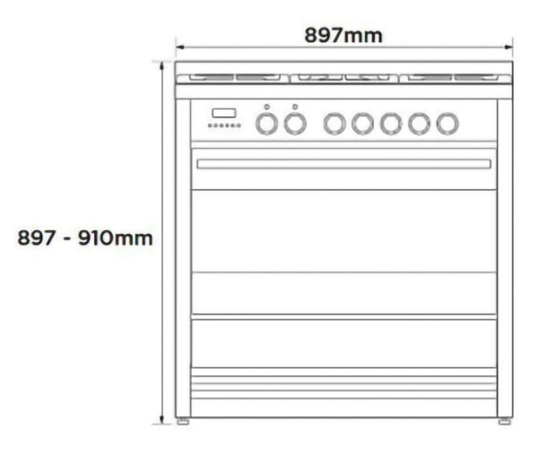 Fisher-Paykel OR90SDBGFPX1 Freestanding Cooker, 90cm, Dual Fuel, Pyrolytic-schematic