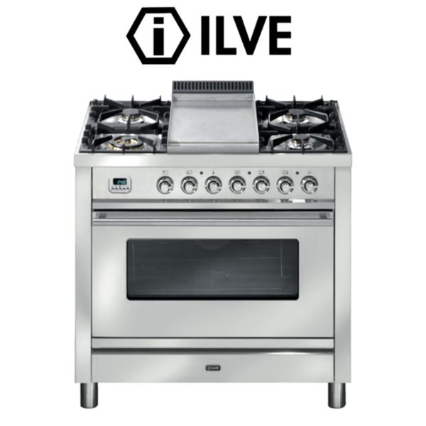 ILVE P90FWMP 90cm StoveCooker – Electric Oven-Gas Cooktop with Teppanyaki Plate