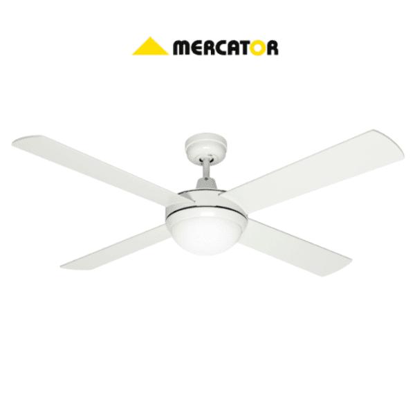 Mercator FC032134WH 130cm White Grange Ceiling Fan 4 Blade with Light