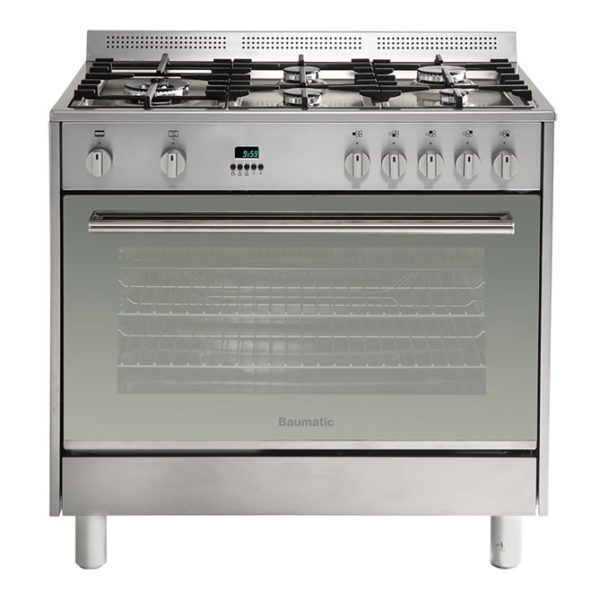 Baumatic BAF90EG 90cm StoveCooker – LPG and Natural Gas Oven-Cooktop-front view