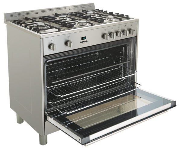 Baumatic BAF90EG 90cm StoveCooker – LPG and Natural Gas Oven-Cooktop-full side view