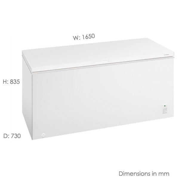 Westinghouse WCM5000WD 500L Chest Freezer-scale