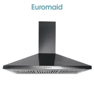 Euromaid CP9BLB - 90cm Black Canopy Rangehood