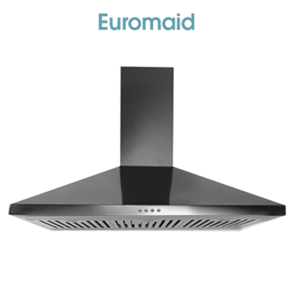 Euromaid CP9BLB – 90cm Black Canopy Rangehood
