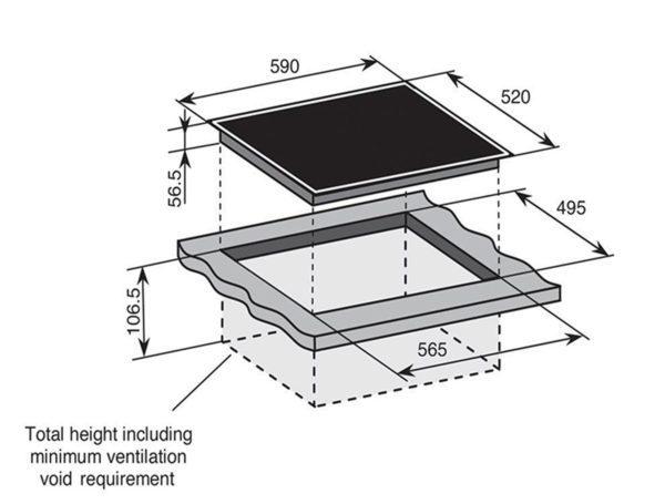Baumatic BHI650 60cm Induction Cooktop (schematic)