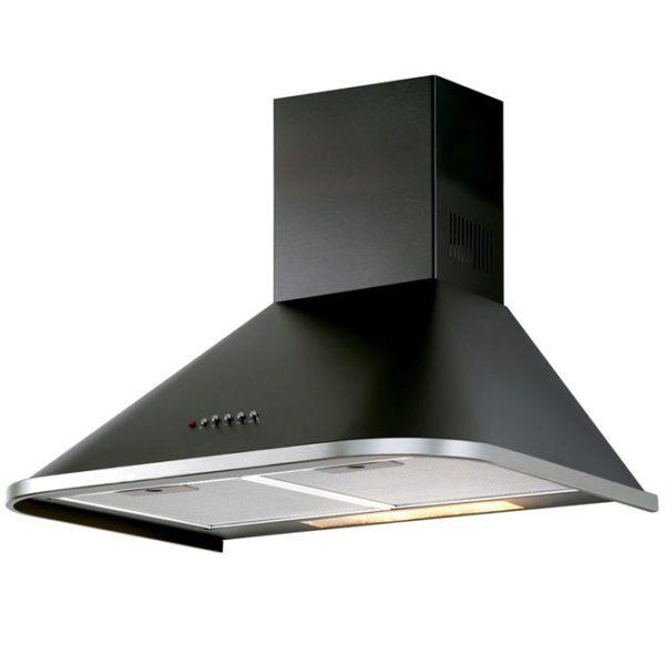 DeLonghi DEVINTAGE90BK Black Steel Vintage Canopy Rangehood 90cm