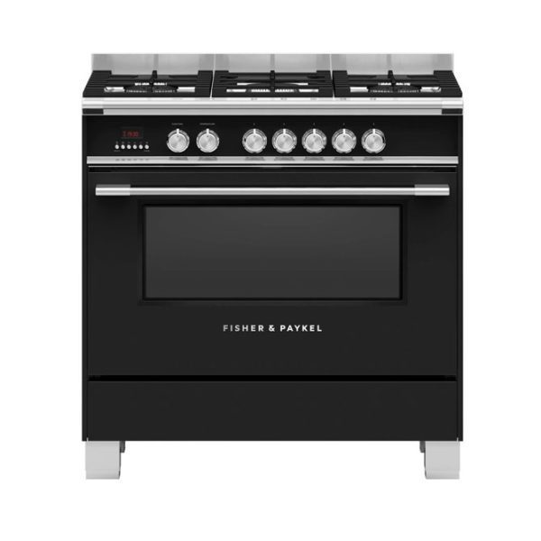 Fisher-Paykel OR90SCG4B1 Freestanding Cooker, 90cm, Dual Fuel Oven Stove