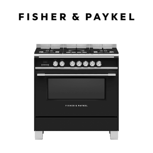 Fisher-Paykel OR90SCG4B1 Freestanding Cooker, 90cm, Dual Fuel Oven Stove (web-ready)