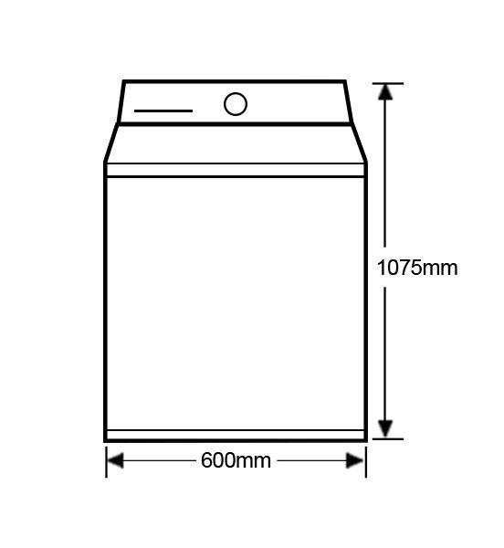 Fisher-Paykel WA8560P1 FabricSmart™ Top Load 8.5kg Washing Machine (schematic)