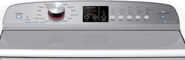 Fisher-Paykel WA8560P1 FabricSmart™ Top Load 8.5kg Washing Machine(control panel view)
