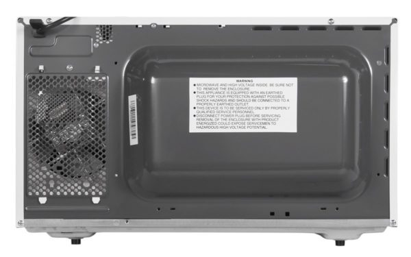 Westinghouse WMF4102WA 40L Countertop Microwave Oven (back view)