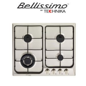 Technika TB64GWFSS-4 4 Burner Cooktop – 600mm – Brushed Stainless Steel (web-ready)