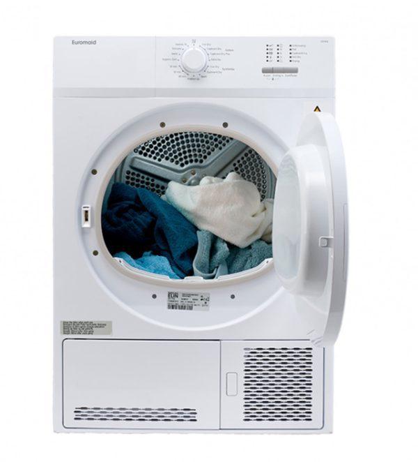 Euromaid CD7KG 7kg Condensor Dryer (door-open view)