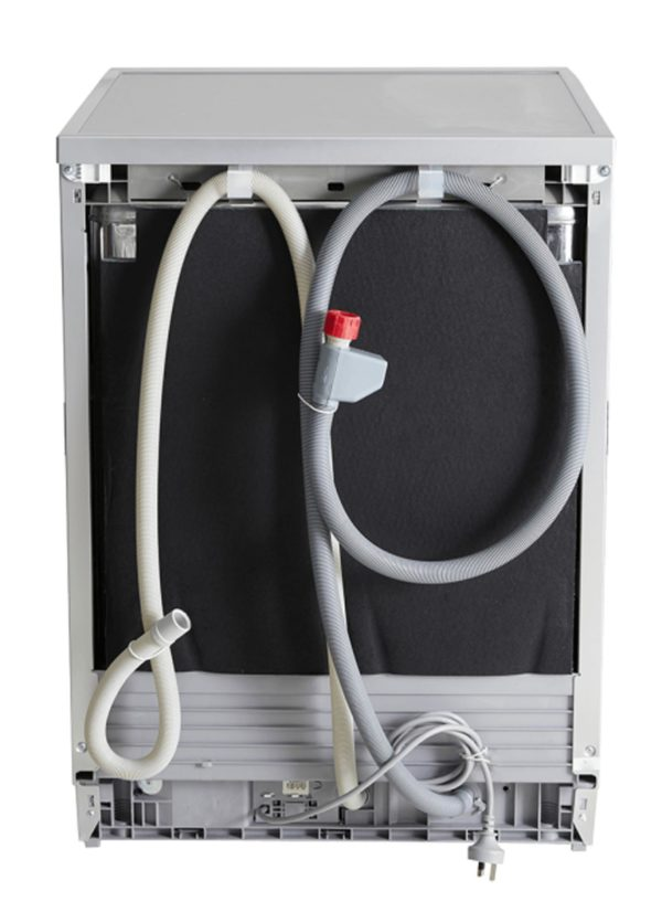 Euromaid EDW14S 60cm Dishwasher Stainless Steel 5 Program (back view)