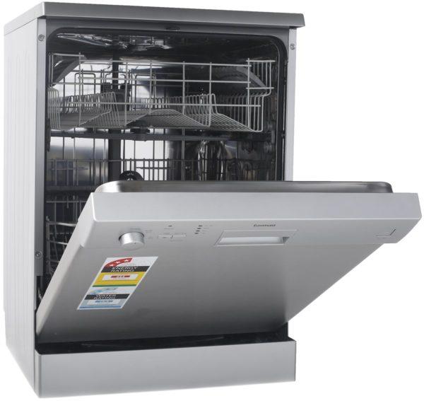Euromaid EDW14S 60cm Dishwasher Stainless Steel 5 Program (door open)