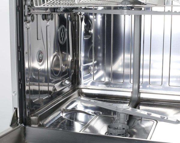 Euromaid EDW14S 60cm Dishwasher Stainless Steel 5 Program (inside view)