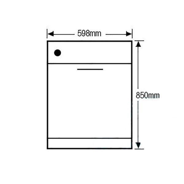 Euromaid EDW14S 60cm Dishwasher Stainless Steel 5 Program (schematic)