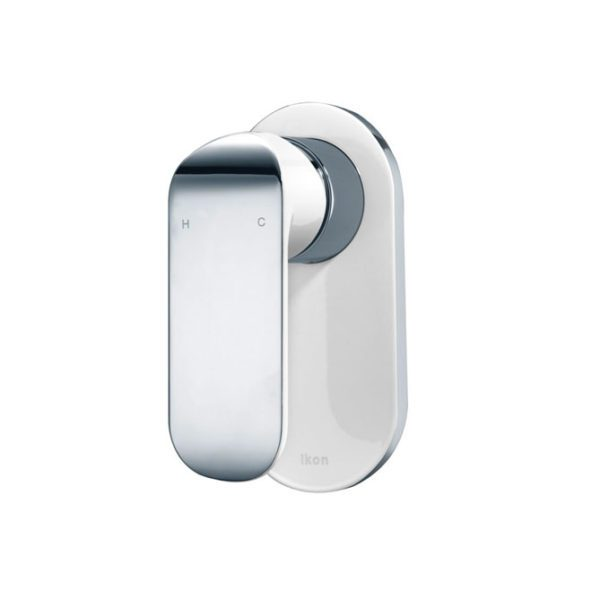 IKON HYB11-301CW KARA Wall Mixer- White & Chrome
