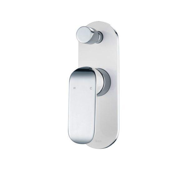 IKON HYB11-501CW KARA Diverter Wall Mixer – White & Chrome