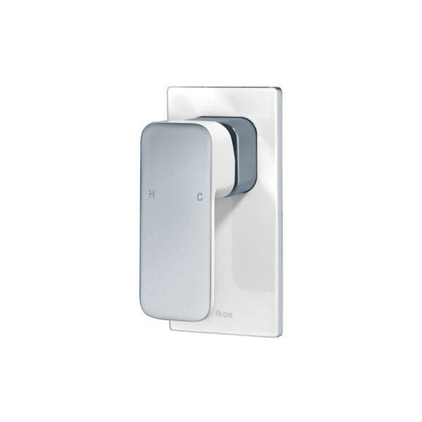 IKON HYB66-301CW SETO Wall Mixer- White & Chrome