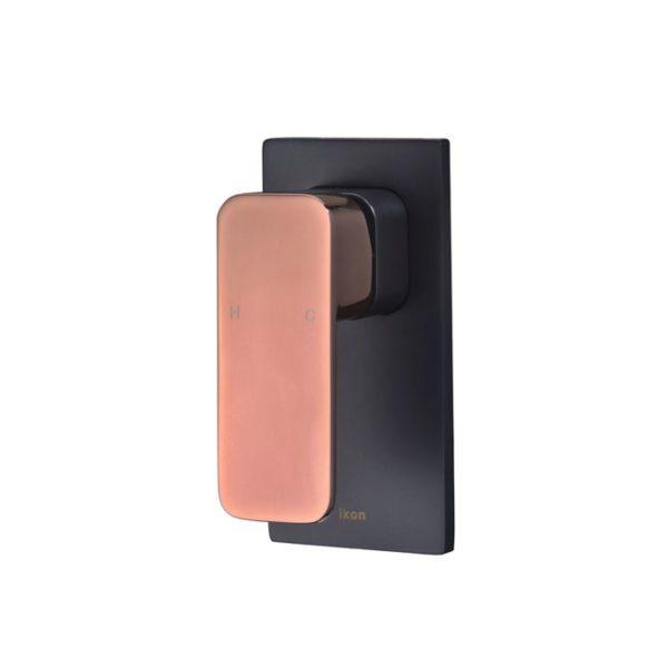 IKON HYB66-301MB-R SETO Wall Mixer – Matte Black/Rose Gold