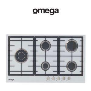 Omega OCG90FXB 90cm 5 Burner Gas Cooktop (web-Ready)