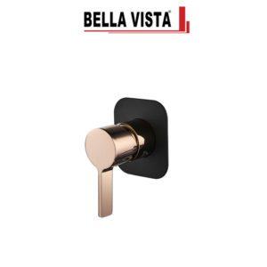 Bella Vista SHM-14-RG-B Vivo Oro Rosa – Shower Bath Mixer in Rose gold and Black Finish