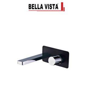 Bella Vista WMSC-13-B-C Zenon Mixer and Spout Combo in Black and Chrome Finish
