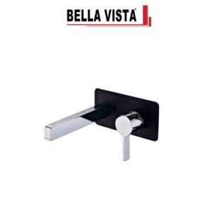 Bella Vista WMSC-14-B-C Vivo Noir Mixer and Spout Combo in Black and Chrome Finish