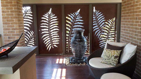 Fern Leaf – Australian Compressed Hardwood – Privacy Garden Screens Australian Made