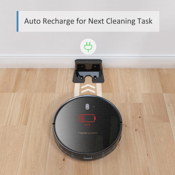 Tesvor M1 Robot Vacuum Cleaner Hoover & 4000Pa Adjustable Suction Power – Auto Recharge