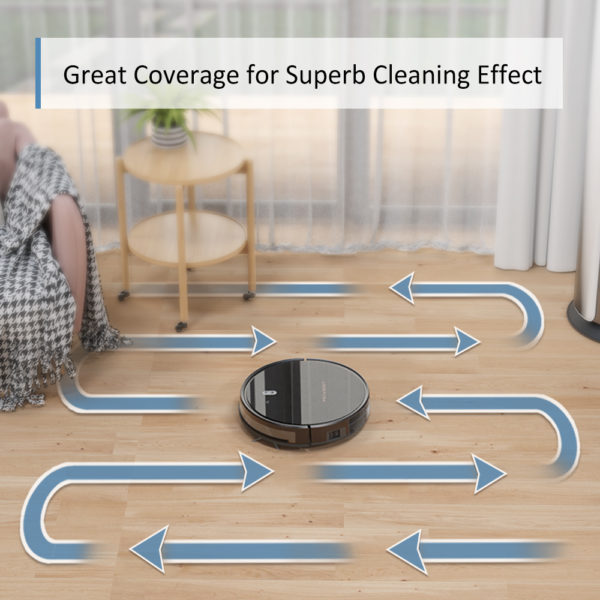 Tesvor M1 Robot Vacuum Cleaner Hoover & 4000Pa Adjustable Suction Power – Great Coverage