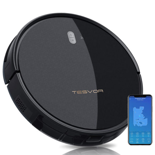 Tesvor M1 Robot Vacuum Cleaner Hoover & 4000Pa Adjustable Suction Power