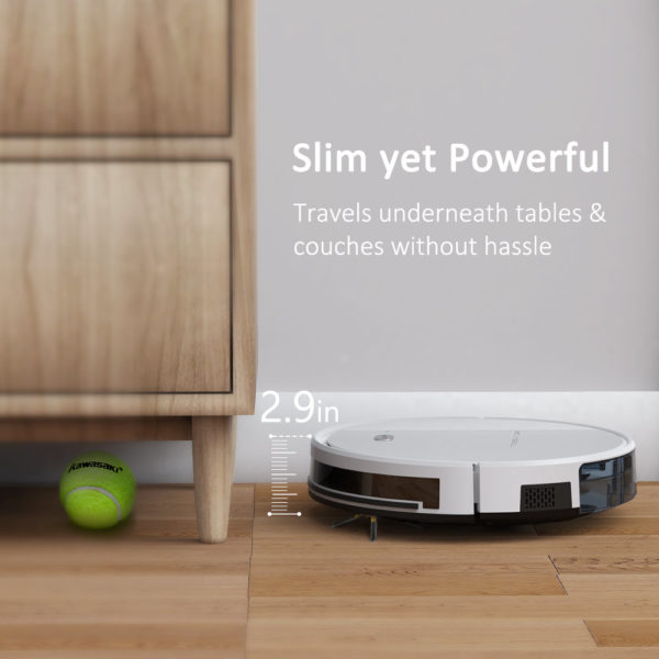 Tesvor X500 Pro Robot Vacuum Cleaner and Mop 1800Pa Strong Suction Self-Charging Wi-Fi Connected – Slim