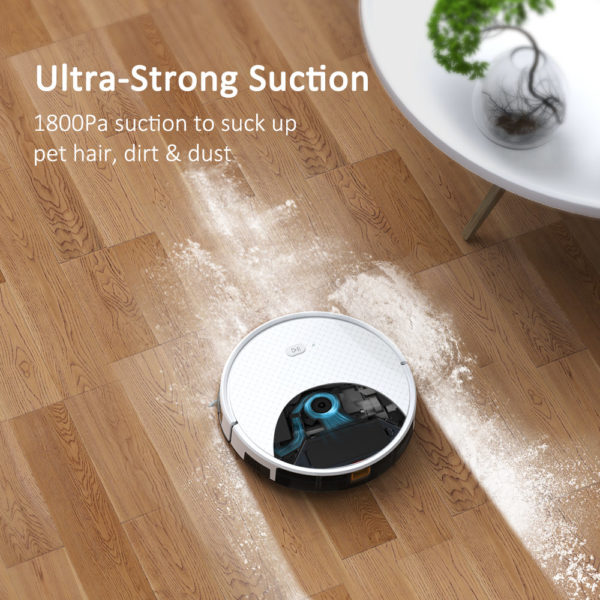 Tesvor X500 Pro Robot Vacuum Cleaner and Mop 1800Pa Strong Suction Self-Charging Wi-Fi Connected – Ultra Strong Suction