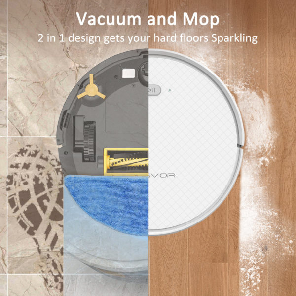 Tesvor X500 Pro Robot Vacuum Cleaner and Mop 1800Pa Strong Suction Self-Charging Wi-Fi Connected – Vacuum and Mop