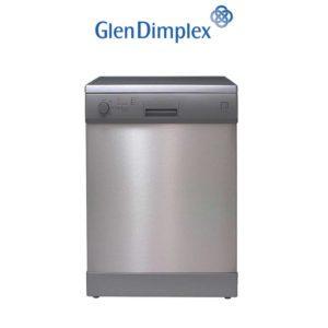 Glen Dimplex GDW14S 60cm Freestanding Stainless Steel European Dishwasher-web ready