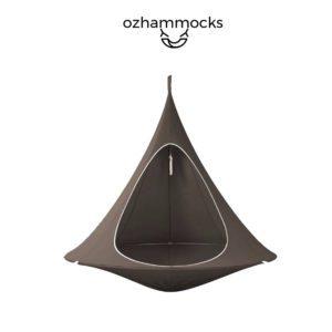 OZHammocks Kids Hanging Tent Hammock - Brown-web ready