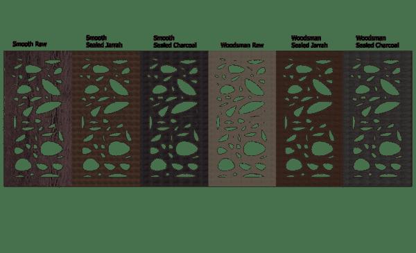 Cayman Australian Compressed Hardwood Privacy Garden Screens Australian Made 600 x 1200 mm 9 mm all type