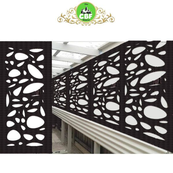 Cayman Australian Compressed Hardwood smooth sealed charcoal Privacy Garden Screens Australian Made 600 x 1200 mm 9 mm