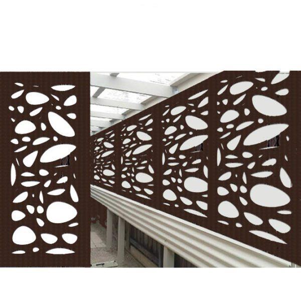 Cayman Australian Compressed Hardwood smooth sealed jarrah Privacy Garden Screens Australian Made 600 x 1200 mm 9 mm