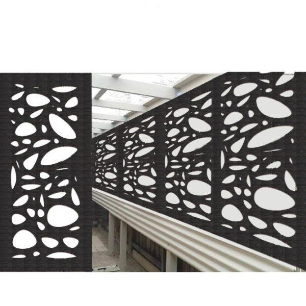 Cayman Australian Compressed Hardwood woodsman sealed charcoal Privacy Garden Screens Australian Made 600 x 1200 mm 9 mm