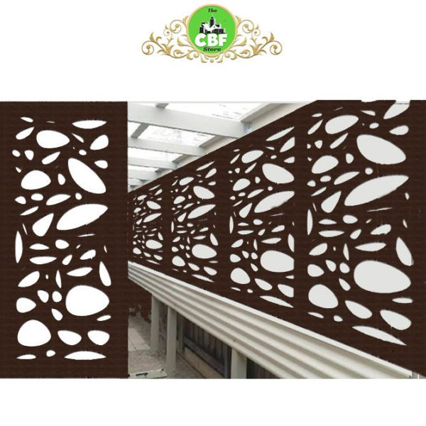 Cayman Australian Compressed Hardwood woodsman sealed jarrah Privacy Garden Screens Australian Made 600 x 1200 mm 9 mm