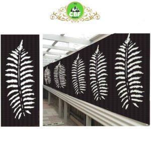 Fern Leaf – Australian Compressed Hardwood smooth sealed charcoal Privacy Garden Screens Australian Made – 600 x 1200 mm – 9 mm