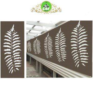 Fern Leaf – Australian Compressed Hardwood woodsman raw Privacy Garden Screens Australian Made – 600 x 1200 mm – 9 mm