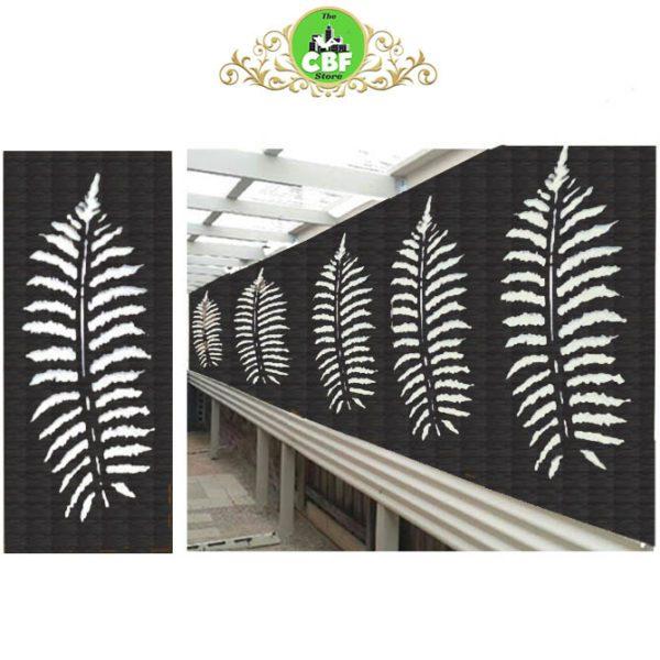 Fern Leaf – Australian Compressed Hardwood woodsman sealed charcoal Privacy Garden Screens Australian Made – 600 x 1200 mm – 9 mm