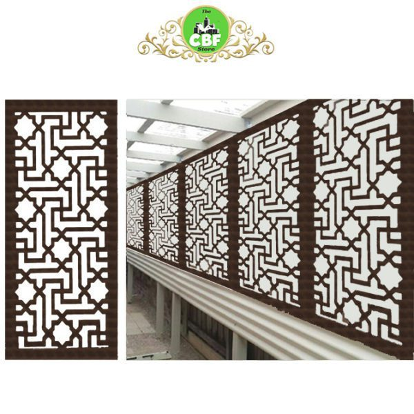 Istanbul – Australian Compressed Hardwood smooth sealed jarrah Privacy Garden Screens Australian Made – 600 x 1200 mm – 9 mm