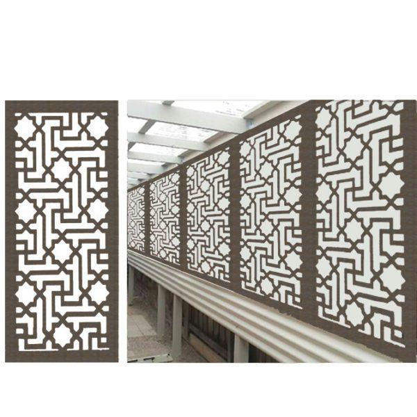 Istanbul – Australian Compressed Hardwood woodsman raw Privacy Garden Screens Australian Made – 600 x 1200 mm – 9 mm