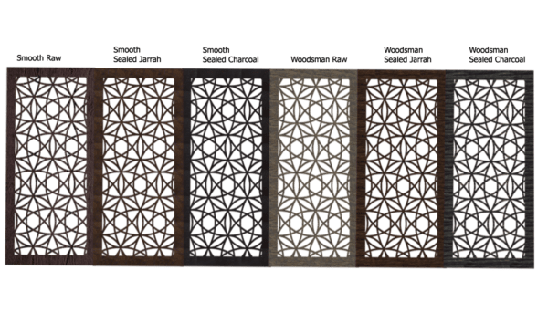 Madrid Australian Compressed Hardwood Privacy Garden Screens Australian Made 600 x 1200mm 9mm all finishes